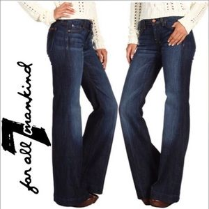 7 for all mankind Dojo Flare Jeans- 34.5""